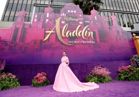 "Cast member Naomi Scott attends the premiere of ""Aladdin"" at El Capitan theatre in Los Angeles, California, U.S. May 21, 2019. REUTERS/Mario Anzuoni"
