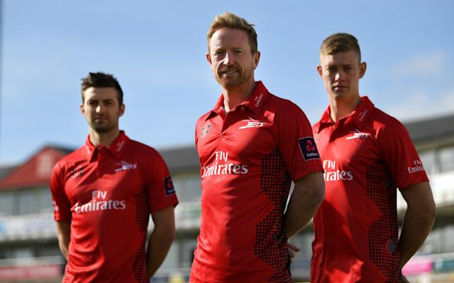 <span>Mark Wood, Paul Collingwood and Keaton Jennings</span> <span>Credit: GETTY IMAGES </span>