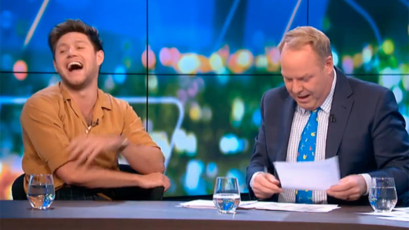Peter Helliar's joke left One Direction's Niall Horan roaring with laughter. Photo: Ten