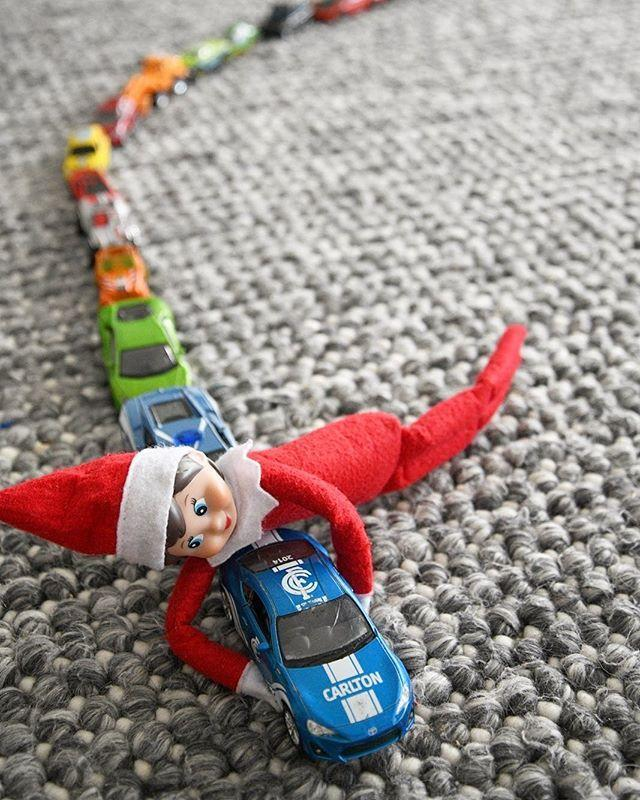 """<p>If toy cars are your kid's favorite, they'll love seeing their elf playing with them as well.</p><p><a href=""""https://www.instagram.com/p/B6PVQ9DlsF_/&hidecaption=true"""" rel=""""nofollow noopener"""" target=""""_blank"""" data-ylk=""""slk:See the original post on Instagram"""" class=""""link rapid-noclick-resp"""">See the original post on Instagram</a></p>"""