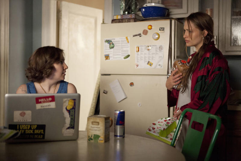 "Lena Dunham and Jemima Kirke in the ""Girls"" Season 2 episode, ""Boys."""