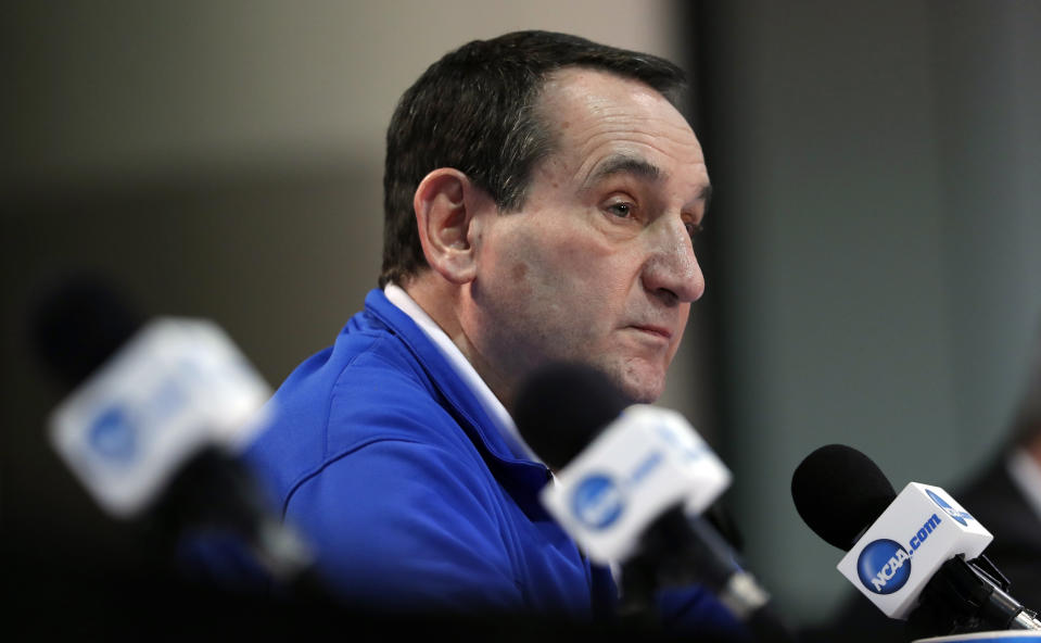 If the NCAA tournament carries on, it apparently would do so without Duke and Kansas. (AP Photo/Charlie Neibergall)