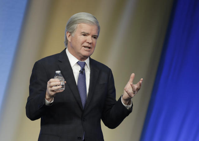 NCAA President Mark Emmert wrote an email to the NCAA Board of Governors and other university presidents in response to a report published Friday. (AP Photo/Darron Cummings)