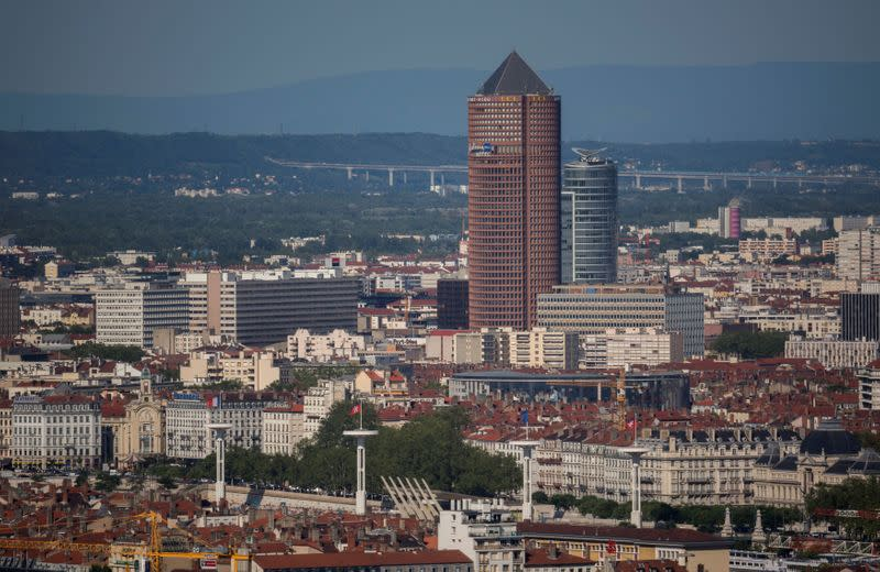 FILE PHOTO: General view of the skyline in Lyon