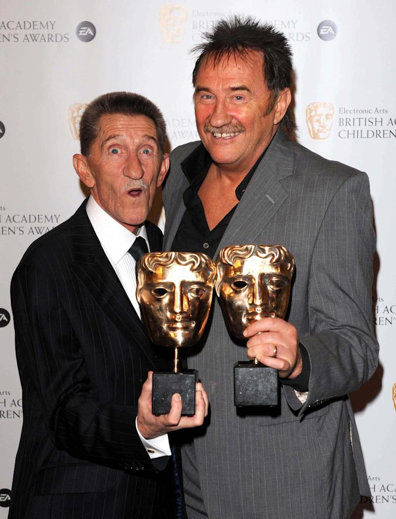 The Chuckle Brothers with the Special Award at the EA BAFTA Kids Awards at the Hilton Hotel in London.