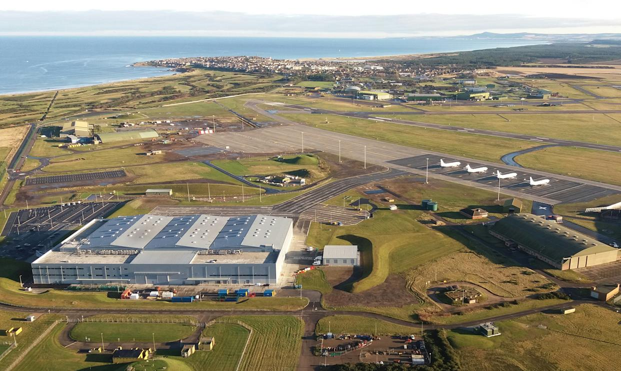 Aerial view of RAF Lossiemouth