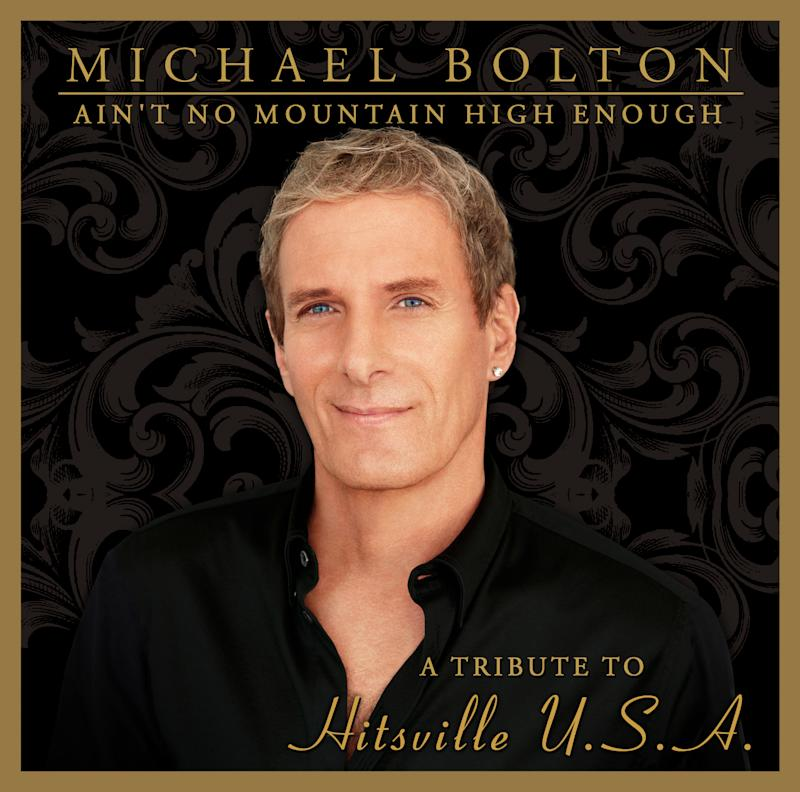 """This CD cover image released by Montaigne Records shows """"Ain't No Mountain High Enough: A Tribute to Hitsville U.S.A.,"""" by Michael Bolton. (AP Photo/Montaigne Records)"""