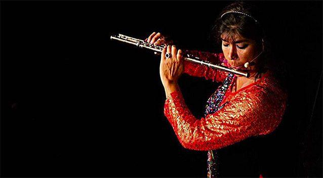 Viviana Guzmán performs over 80 concerts a year throughout the world and has performed in 125 countries. Picture: Instagram/viviana_flutequeen/