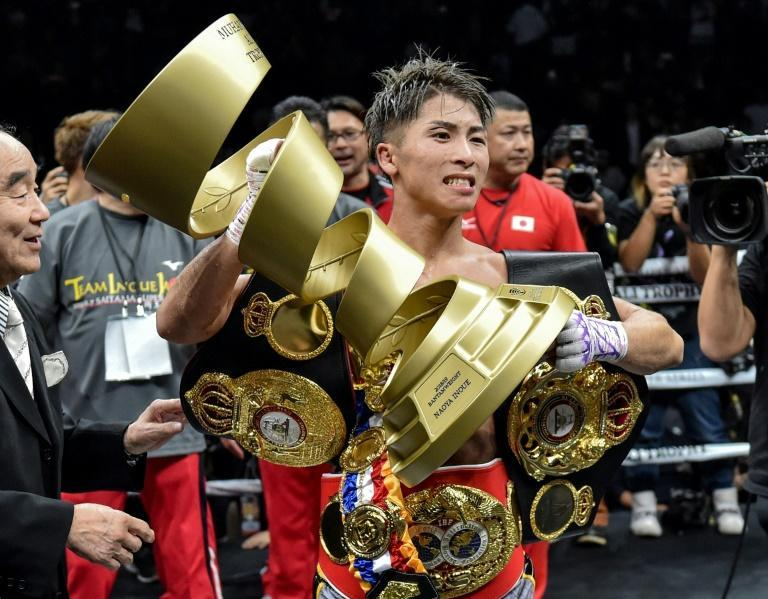 Japan's Naoya Inoue risks his unbeaten record and two world welterweight titles on Saturday at Las Vegas against Australia's Jason Moloney