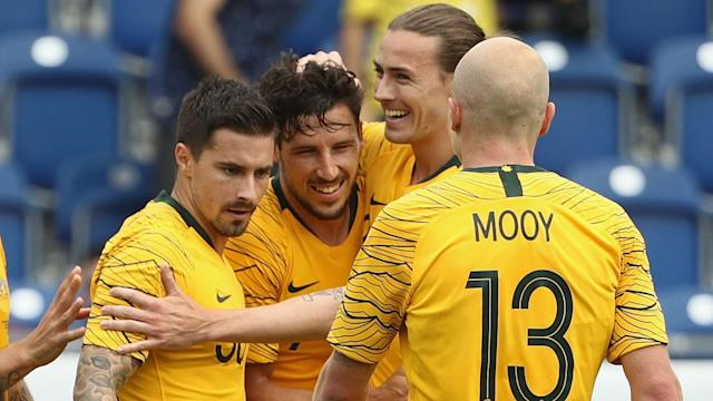 Czech Republic were no match for World Cup qualifiers Australia, as Mathew Leckie and Andrew Nabbout led a comfortable 4-0 win