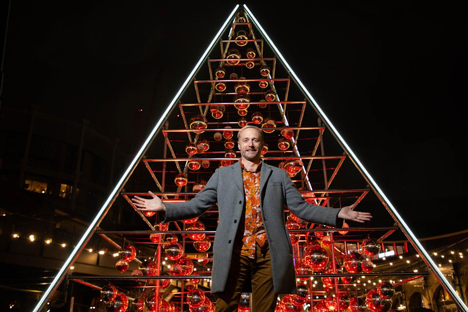 Botanical Boys founder, Darren Henderson unveils his installation named The Terrarium Tree at Coal Drops Yard in King's Cross  (Photo: David Parry/PA Wire)