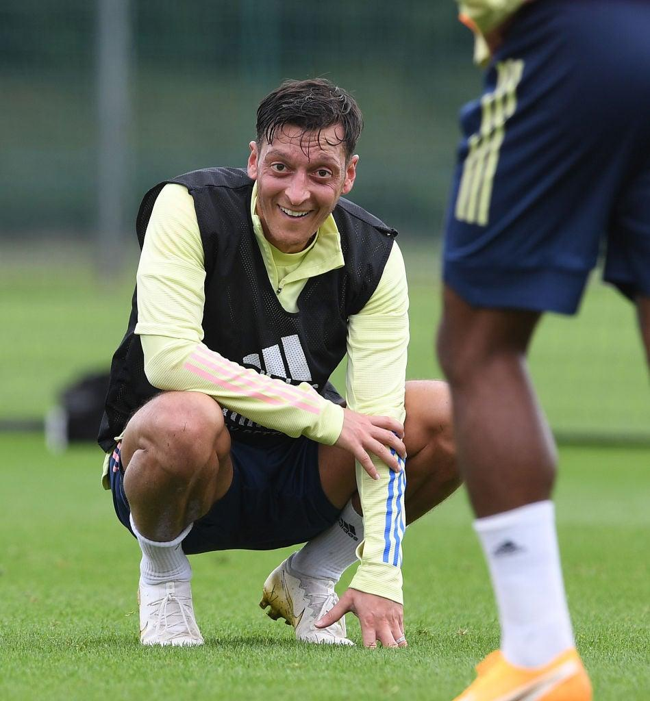 Ozil has been left out of Arsenal's Europa League squadGetty