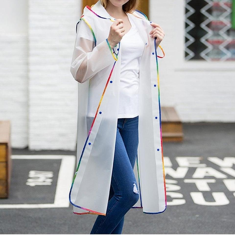 <p>When it rains, it pours, and the <span>Universal Rain Coat</span> ($10) is here to save the day. </p>