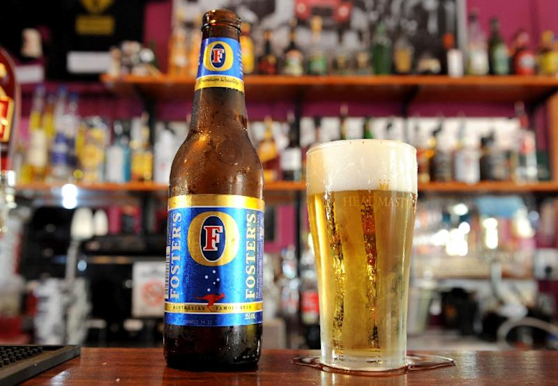 SABMiller, the maker of Foster's lager, said profits after tax dropped 18 percent to $2.7 billion (2.4 billion euros) in its financial year that ended March 31 (AFP Photo/William West)