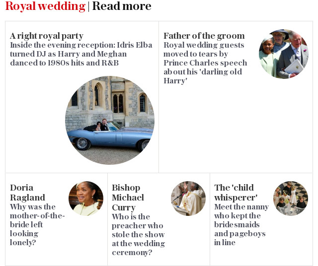 Royal wedding PREMIUM GRID