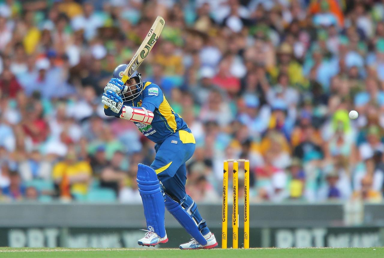 SYDNEY, AUSTRALIA - JANUARY 20:  Tillakaratne Dilshan of Sri Lanka bats during game four of the Commonwealth Bank one day international series between Australia and Sri Lanka at Sydney Cricket Ground on January 20, 2013 in Sydney, Australia.  (Photo by Brendon Thorne/Getty Images)
