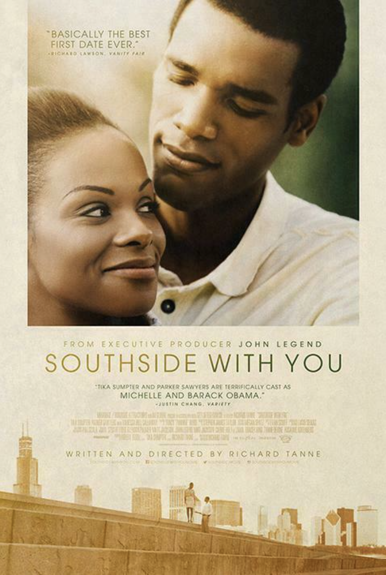 """<p>Inspired by former President Barack Obama and first lady Michelle Obama, <em>Southside With You</em> depicts their first date in the summer of 1989, offering a glimpse into the beginning of a love story we all know the ending to.</p><p><a class=""""link rapid-noclick-resp"""" href=""""https://www.amazon.com/Southside-You-Tika-Sumpter/dp/B01L0QPGYC?tag=syn-yahoo-20&ascsubtag=%5Bartid%7C10063.g.35083114%5Bsrc%7Cyahoo-us"""" rel=""""nofollow noopener"""" target=""""_blank"""" data-ylk=""""slk:STREAM IT HERE"""">STREAM IT HERE</a></p>"""
