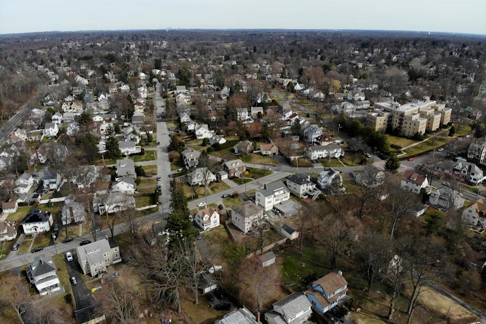 A suburban area that mostly falls within the containment area in New Rochelle, New York, on March 11, 2020. (Photo: ASSOCIATED PRESS)