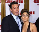 <p>Looking carefree at the <em>Gigli</em> premiere. </p>