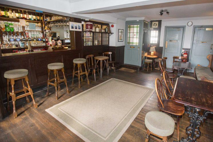 The interior of the bar where Blunt could soon be pulling pints for regulars