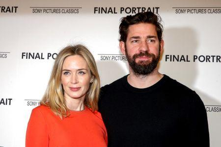 Actors Emily Blunt and John Krasinski arrive for a special screening of 'Final Portrait' in New York, U.S., March 22, 2018. REUTERS/Brendan McDermid