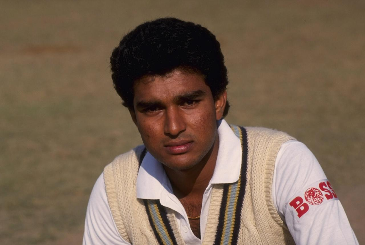 Undated:  Portrait of Sanjay Manjrekar of India.