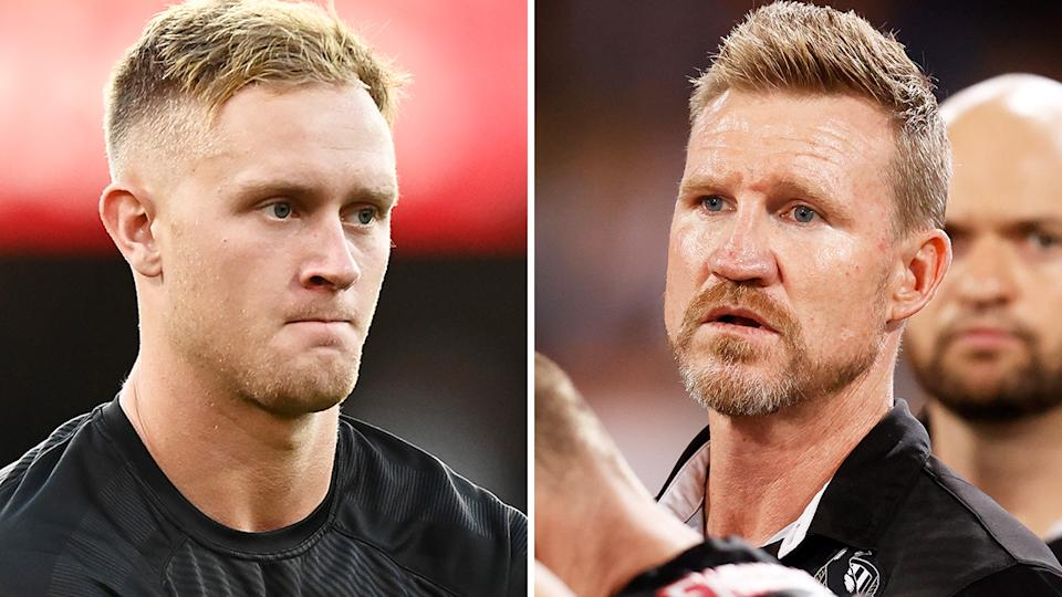 Jaidyn Stephenson says he was caught off-guard by the Magpies decision to trade him, and said he disagreed with coach Nathan Buckley on his contributions to the team. Pictures: Getty Images