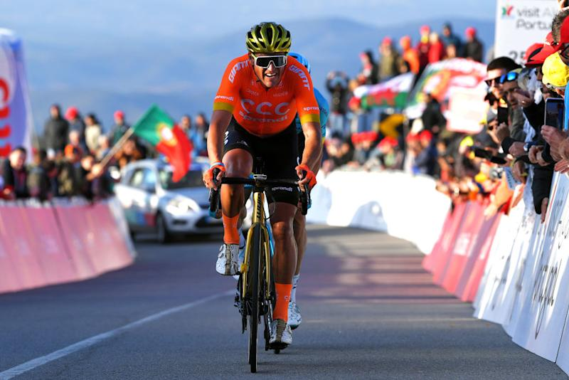 Greg Van Avermaet finished 15th on the climb