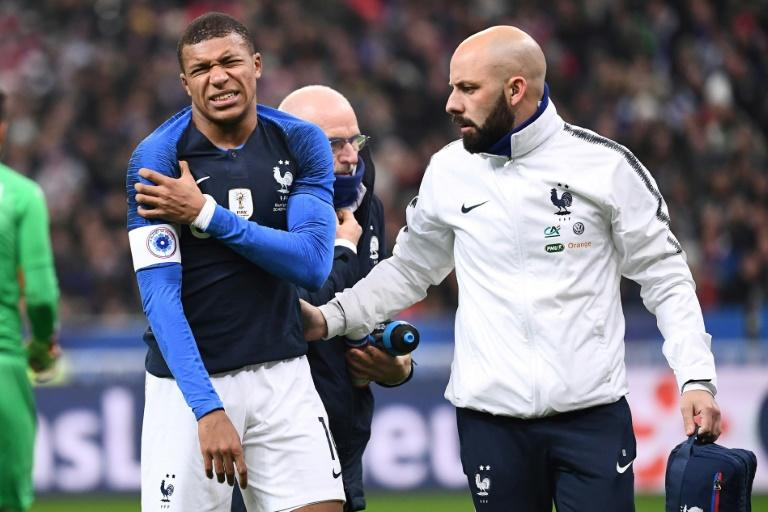 Mbappe had to be substituted in the first half with a shoulder injury