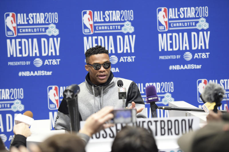 Russell Westbrook doesn't sound enthused about being All-Star teammate of Joel Embiid
