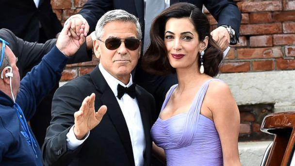 PHOTO: George Clooney and Amal Clooney are seen leaving Hotel Cipriani during the 74th Venice Film Festival, Sept. 2, 2017 in Venice, Italy. (Jacopo Raule/GC Images/Getty Images)