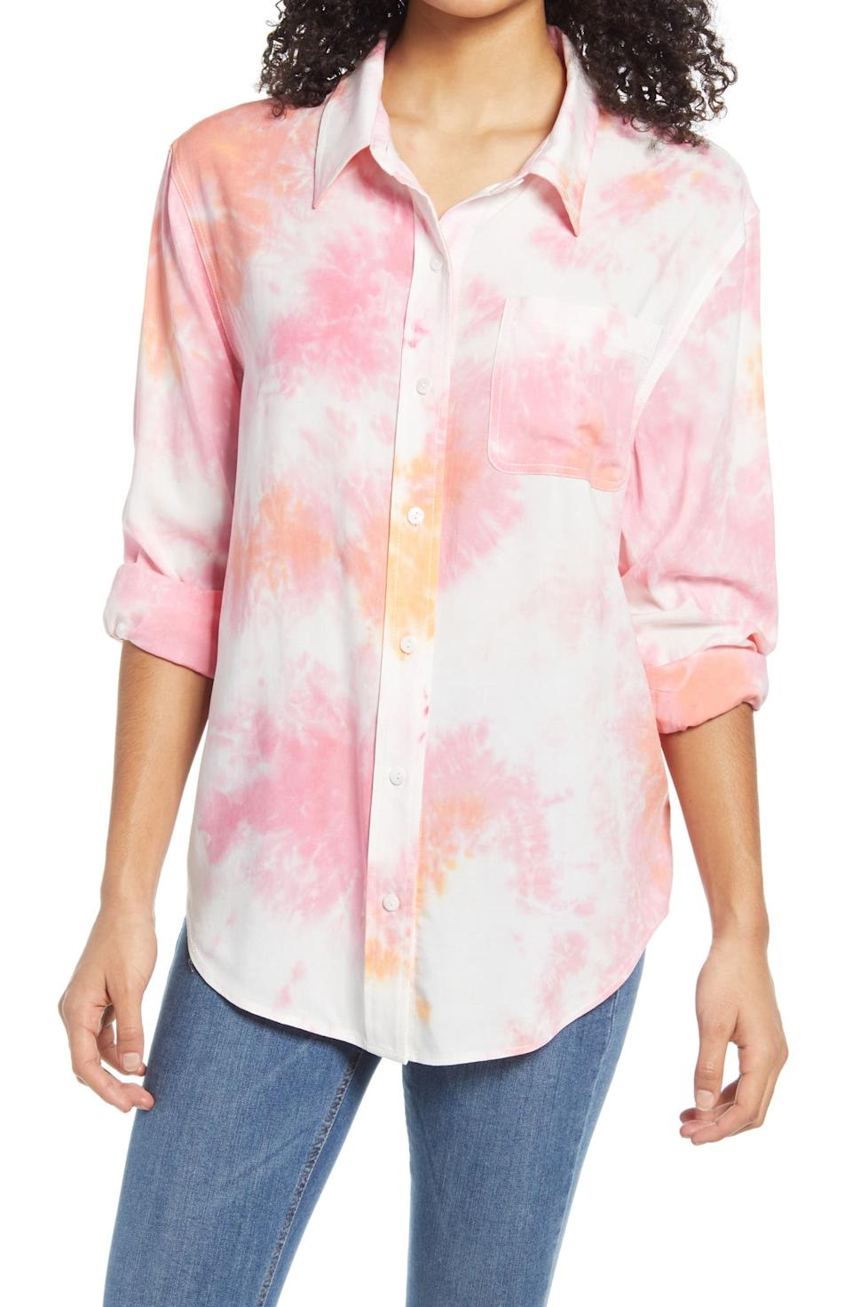 BP. L.A. Tie Dye Tunic Top. Image via Nordstrom.