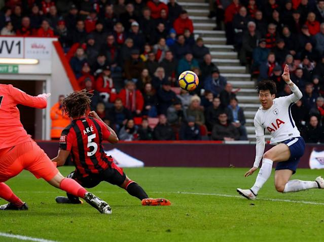 Tottenham overcome loss of Harry Kane to injury to hit four past Bournemouth