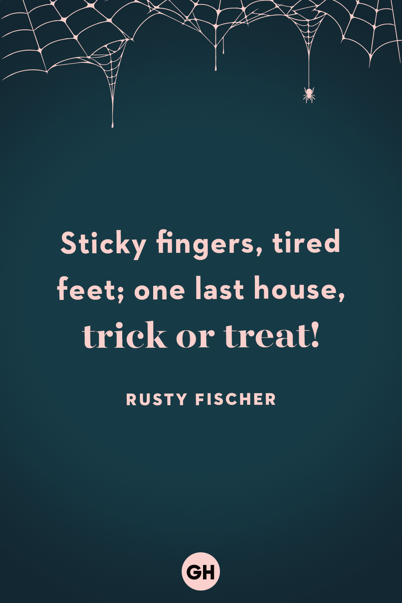 <p>Sticky fingers, tired feet; one last house, trick or treat!</p>