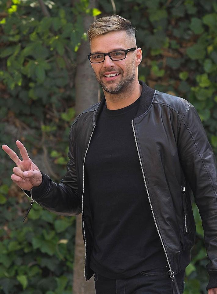 """We've always been (and will always be) fans of Puerto Rican singing sensation Ricky Martin. But, if we're being honest, we're not fans of his new, frosted 'do. Hello? Blond tips are so 1996. He should know better. Victor Chavez/<a href=""""http://www.wireimage.com"""" target=""""new"""">WireImage.com</a> - April 5, 2011"""