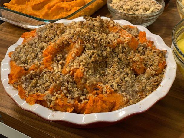 PHOTO: Jeff Mauro's pecan brown sugar butter sweet potatoes. (ABC News)