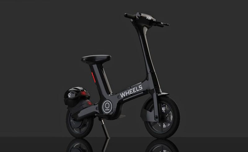 Wheels electric scooter in partnership with the Lime app.