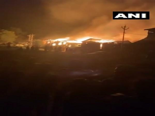 Several houses were gutted in a fire that broke out in Noorbagh area of Baramulla on Thursday night.