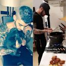 <p>Zayn Malik covered a tattoo of ex Perrie Edwards as soon as he started dating Gigi Hadid. Fans were quick to spot his new cover-up thanks to the model's Snapchat. <em>[Photo: Twitter/Snapchat]</em> </p>