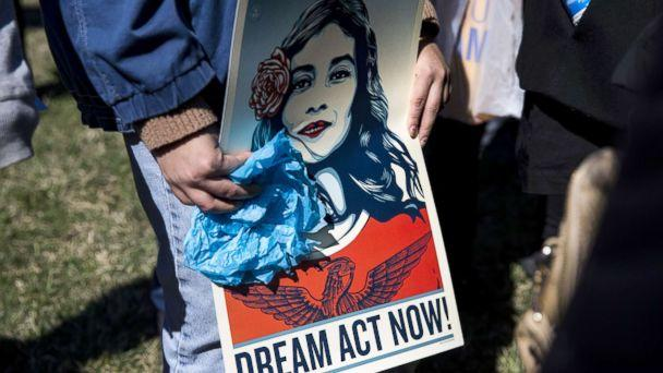 PHOTO: Demonstrators protest the end of the Deferred Action for Childhood Arrivals (DACA), outside of the Capitol in Washington, D.C., March 5, 2018. (Samuel Corum/Anadolu Agency via Getty Images, FILE)