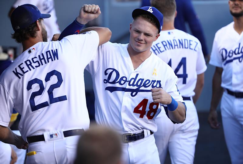 The Dodgers are closing in on another NL West title. (Photo by Victor Decolongon/Getty Images)