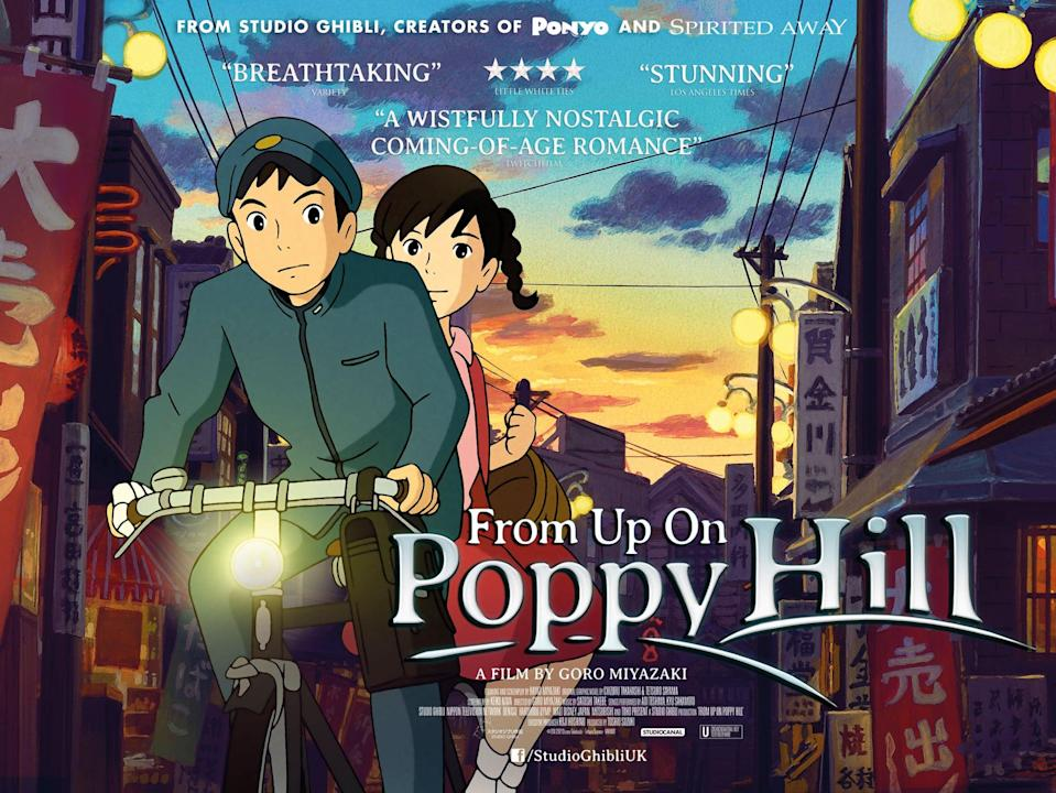 """<p><strong>HBO Max's Description:</strong> """"Yokohama, 1963. Japan is picking itself up from the devastation of World War II and preparing to host the Olympics. Against this backdrop of hope and change, a friendship begins to blossom between high school students Umi (Sarah Bolger) and Shun (Anton Yelchin) - but a buried secret from their past emerges to cast a shadow on the future and pull them apart.""""</p> <p><a href=""""https://play.hbomax.com/feature/urn:hbo:feature:GXrHaVgM1yKu9KwEAAAAl"""" class=""""link rapid-noclick-resp"""" rel=""""nofollow noopener"""" target=""""_blank"""" data-ylk=""""slk:Watch From Up on Poppy Hill on HBO Max here!"""">Watch <strong>From Up on Poppy Hill</strong> on HBO Max here!</a></p> <h2>More Family Movies Your Kids Can Stream on HBO Max</h2> <ul> <li><a href=""""https://play.hbomax.com/feature/urn:hbo:feature:GXKTRWQFeJsPDwwEAAAB1"""" class=""""link rapid-noclick-resp"""" rel=""""nofollow noopener"""" target=""""_blank"""" data-ylk=""""slk:The Adventures of Tom Thumb and Thumbelina""""><strong>The Adventures of Tom Thumb and Thumbelina</strong></a></li> <li><a href=""""https://play.hbomax.com/feature/urn:hbo:feature:GXLismQHDAcN8owEAAAHr"""" class=""""link rapid-noclick-resp"""" rel=""""nofollow noopener"""" target=""""_blank"""" data-ylk=""""slk:Air Buddies""""><strong>Air Buddies</strong></a></li> <li><a href=""""https://play.hbomax.com/feature/urn:hbo:feature:GXHHajQECKp7CwgEAAAFy"""" class=""""link rapid-noclick-resp"""" rel=""""nofollow noopener"""" target=""""_blank"""" data-ylk=""""slk:Alpha and Omega: Dino Digs""""><strong>Alpha and Omega: Dino Digs</strong></a></li> <li><a href=""""https://play.hbomax.com/feature/urn:hbo:feature:GXiofEgVxLretvAEAAAJm"""" class=""""link rapid-noclick-resp"""" rel=""""nofollow noopener"""" target=""""_blank"""" data-ylk=""""slk:Alpha and Omega: The Big Fureeze""""><strong>Alpha and Omega: The Big Fureeze</strong></a></li> <li><a href=""""https://play.hbomax.com/feature/urn:hbo:feature:GXiod0gUxzoCnrwEAAAJ3"""" class=""""link rapid-noclick-resp"""" rel=""""nofollow noopener"""" target=""""_blank"""" data-ylk=""""slk:Alpha and Omega: The Great Wolf Games""""><strong>Alpha """