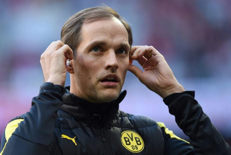 Dortmund's chief executive admitted his relationship with Tuchel (pictured) was strained over the decision to play their Champions League quarter-final first leg a day after a bomb attack on their team bus