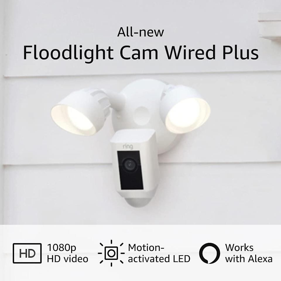<p>Keep your home secure with this useful <span>Ring Floodlight Cam Wired Plus</span> ($180).</p>