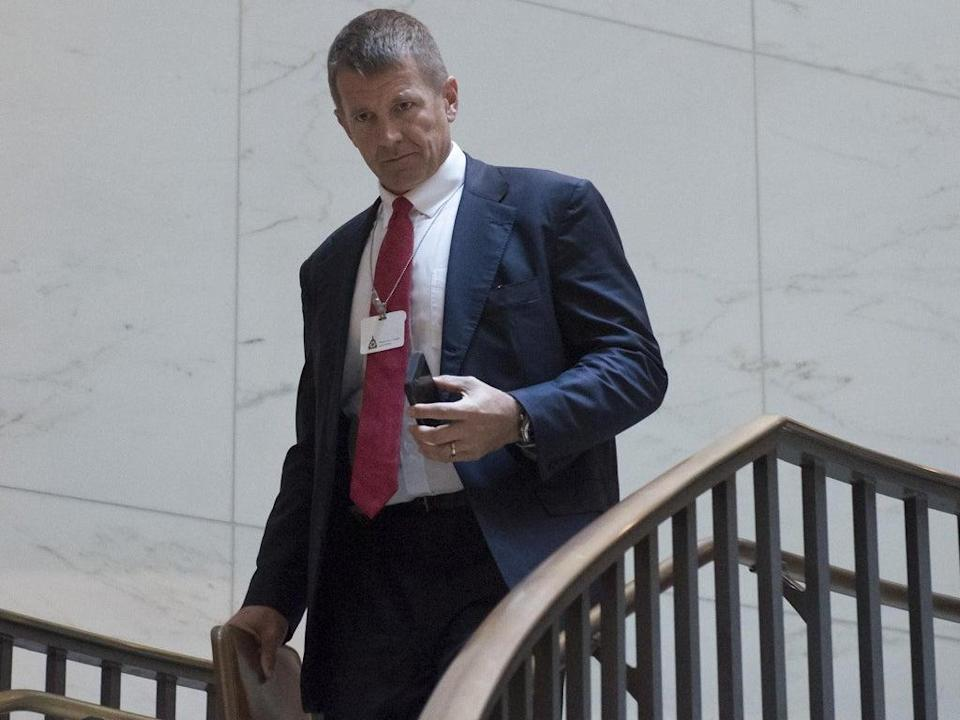 Erik Prince's firm Blackwater received hundreds of millions of dollars in government contracts during the Iraq and Afghan wars (AFP/Getty)
