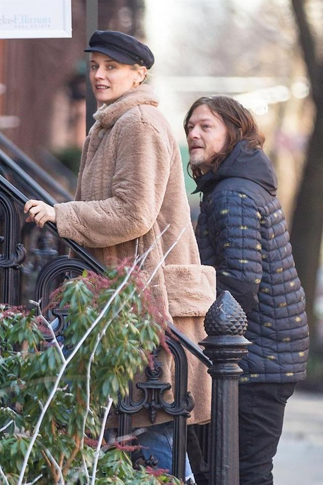 <p>It's getting serious! The couple was spotted out bundled up and apartment hunting in the West Village in New York on Tuesday. Could they be looking to move in together soon? (Photo: BackGrid) </p>