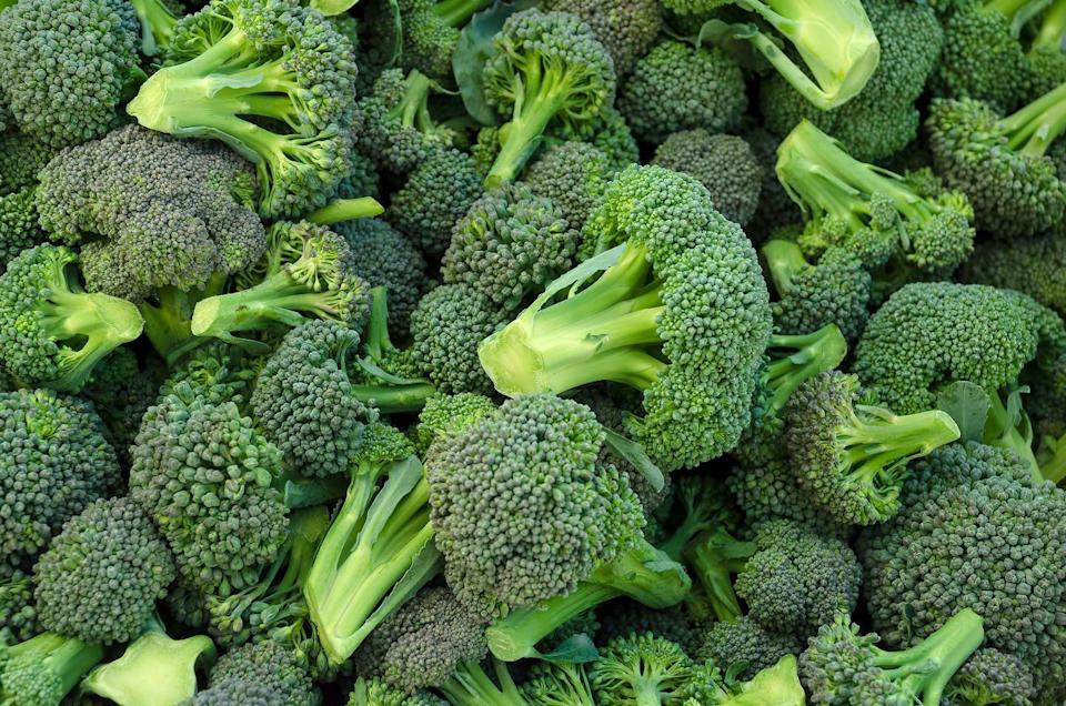 """<p><a href=""""https://www.goodhousekeeping.com/health/diet-nutrition/a19500502/broccoli-nutrition/"""" rel=""""nofollow noopener"""" target=""""_blank"""" data-ylk=""""slk:Broccoli"""" class=""""link rapid-noclick-resp"""">Broccoli</a> gets its healthy rep because it's low in calories and high in micronutrients, including vitamin C, vitamin A, and vitamin K. Eat it raw or steamed versus boiled to reap a bigger nutritional bonus. <br></p><p><strong>RELATED: </strong><a href=""""https://www.goodhousekeeping.com/food-recipes/cooking/g19644655/how-to-cook-broccoli/"""" rel=""""nofollow noopener"""" target=""""_blank"""" data-ylk=""""slk:This is the Absolute Best Way to Roast Broccoli"""" class=""""link rapid-noclick-resp"""">This is the Absolute Best Way to Roast Broccoli</a></p>"""