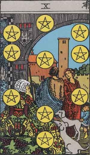 Ten of Pentacles card. Photo: Wikimedia Commons