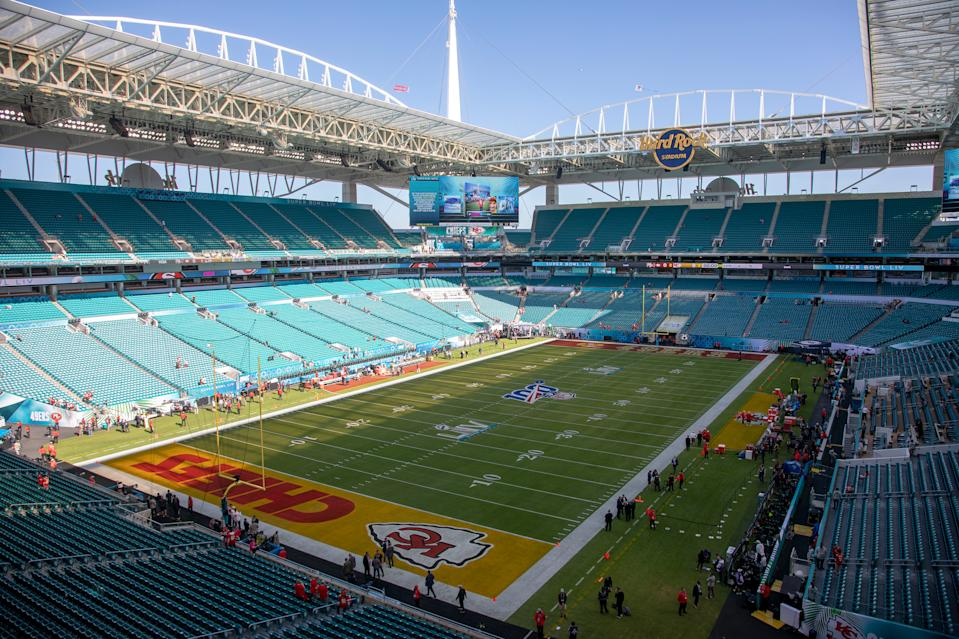 Could there be a Super Bowl without fans this season? (Karl Mondon/MediaNews Group/The Mercury News via Getty Images)
