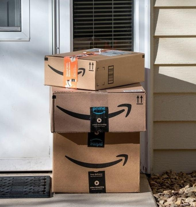 Amazon packages on your doorstep